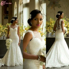 Cestbella Pure White Short Sleeve Sexy Lace Appliqued Wedding Dress Beautiful Bridal Gown Pure White us 4