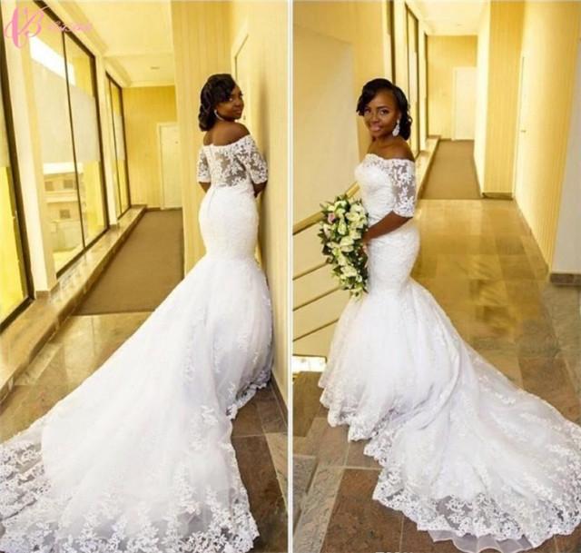 Cestbella African Customized Made Mermaid Luxury Crystal Beaded Wedding  Dress image image 15aa2ab9291d