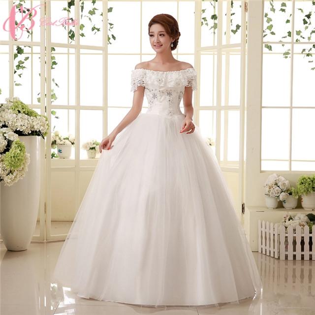 0170692f8d7 Elegant Off-shoulder Lace Appliques Cheap Ball Gown Plus Size Wedding Dress  Cestbella pure white us 12  Product No  724696. Item specifics  Brand