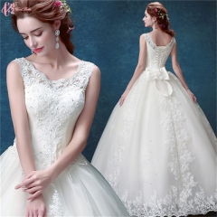 Lace Off Shoulder Bridal Dress Wedding Gown Pure White us 4