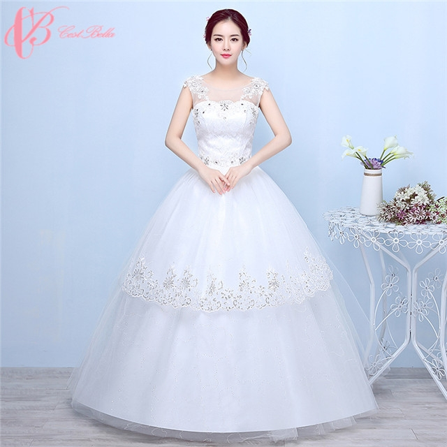 7139929b555 Spaghetti strap multi-layer lace appliques cheap puffy ball gown wedding  dress cestbella pure white us 14  Product No  728567. Item specifics  Brand