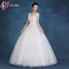 Sleeveless Classic Design Ball Gown Wedding Dress Cestbella pure white us 4