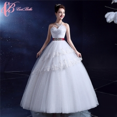 Sweetheart Sexy Crystal Decorating Ball Gown Wedding Dress Cestbella pure white us 4