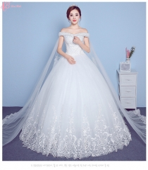 2017 High Quality Gorgeous Under 100 Lace Appliqued Women Wedding Dress Gown Guangzhou pure white us 4