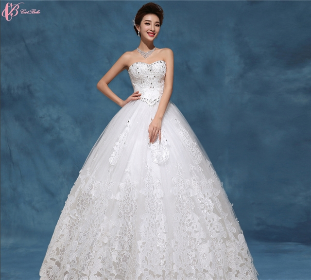 Kilimall: Stunning Cheap Off Shoulder Lace Appliqued Wedding Dress ...
