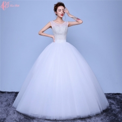Alibaba Sexy Indian Women Wedding Dress Ball Gown Lace Applique See Through pure white us 4