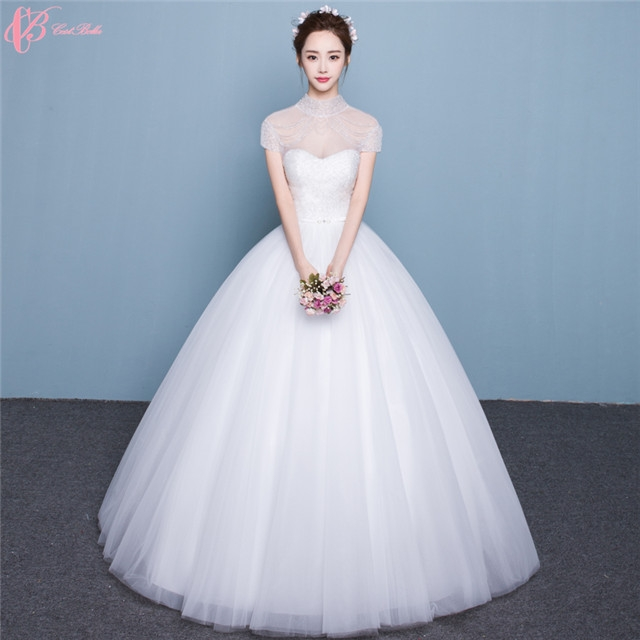 c1477f2b2ed82 Guangzhou Sexy Cheap See Through Ball Gown High Neck Wedding Bridal Dresses  African image image ...