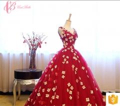 bohemian chiffon dinner for ladies women party dresses long evening elegant red us 4