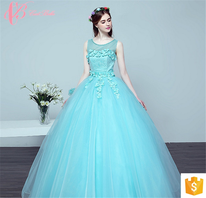 Kilimall: Crisp Blue Puffy Ball Gown Party Wear for Ladies New Style ...