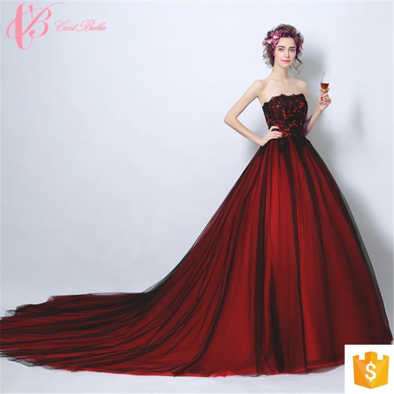 Kilimall: Wine Red Long Trailing Italian Design Raw Silk Maternity ...