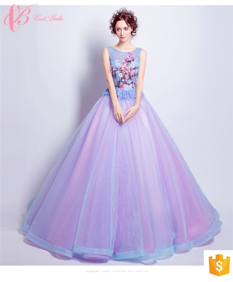 China Supplier Wholesales Pink Blue Ball Gown Soft Quinceanera Gowns