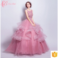 marine flower girl long trains puffy pink ball gown evening dresses pink us 4