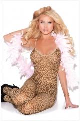 Leopard Jumpsuit Sleepwear Nightwear Lingerie Women leopard normal