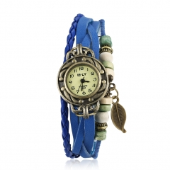 Women's day Cestbella Women's Watch Round Dial Leather Watches Fashion New blue normal