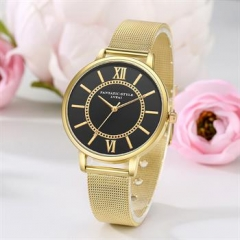 Male Watches Alloy Band Watch Men Business Type Watch gold normal