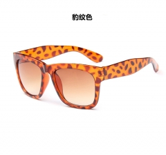 (Leopard in Stock) Men Women Sunglasses Semi Rimless Unisex Polarized Sunglass gold screen normal