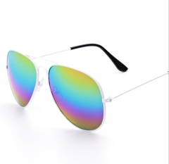(Colorful in Stock) Cestbella Men's Sunglasses Full Metal Women Sunglass colorful screen normal