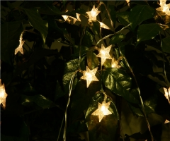 Star Pattern women's day LED Night  String Light Ornament Party Wedding Holiday  Outdoor colorful normal avarage