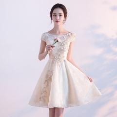 Cestbella Elegant Lace Appliqued Crystal Beaded Bridesmaid Dress per picture us  4