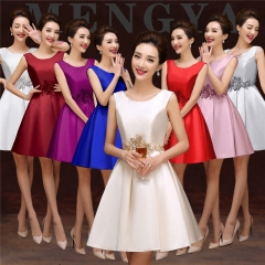 Cestbella High Quality Fashion Polyster Bridesmaid Dress white us  4