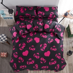Cestbella High Quality Cotton Love Heart 4pcs Bedding Set Duvet Cover Pillow Case Bed Sheet per picture smaller size