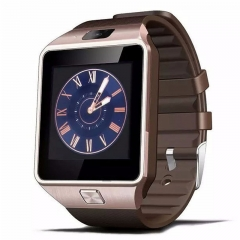 Smart Watch DZ09 With Camera Bluetooth WristWatch SIM Card ios Android Support Multi Languages Gold 1