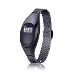 Smart Wristband Bluetooth Bracelet Blood Pressure Heart Rate Monitor Waterproof Pedometer Android black 1