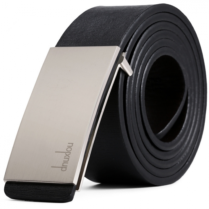 Designer Smooth Buckle Male Belt Business Casual PU Belts for Men 110-125cm Fashion Strap Men Silver 110-125cm
