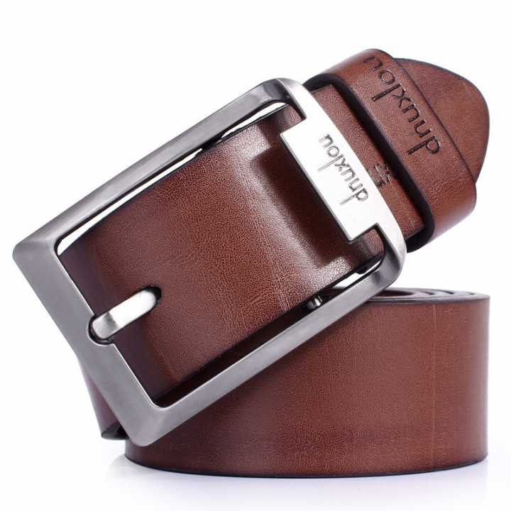 Hot Jeans belt promotion ceinture dnuxlou mens belts luxury faux leather belt for men trouser belts brown 110-125cm