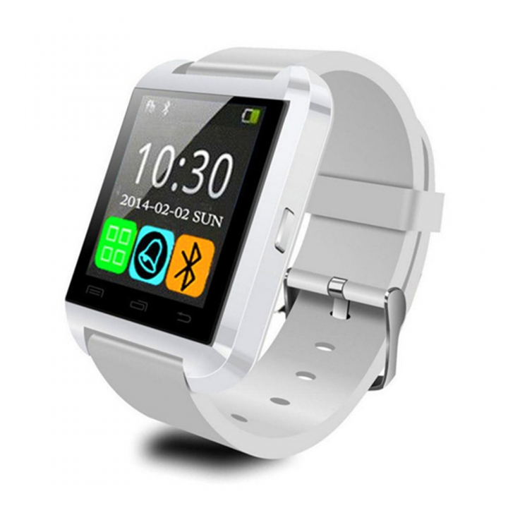 U8 Smart Watch Clock Sync Notifier Support Bluetooth Connectivity For Android Phone white 1