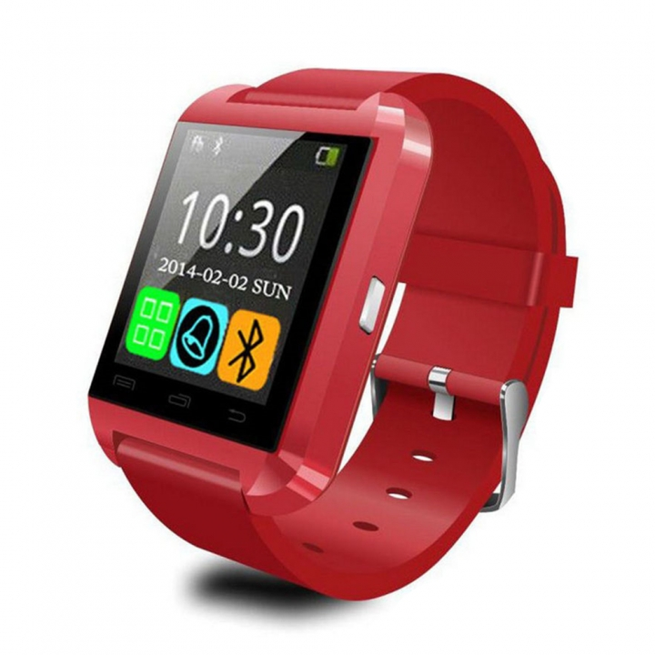 U8 Smart Watch Clock Sync Notifier Support Bluetooth Connectivity For Android Phone red 1