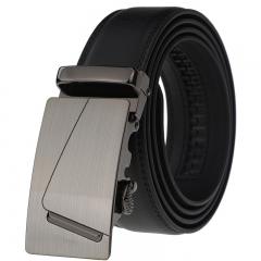 Automatic belt buckle type men's leather belt leather belt black 110-125cm