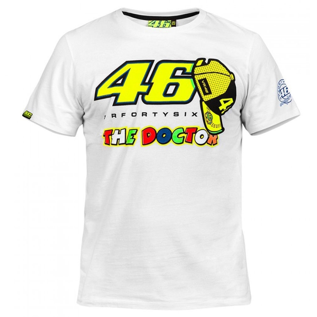 popular MOTO GP new 46th Rossi motorcycle racing clothes clothes cotton  short-sleeved T-shirt White L cotton
