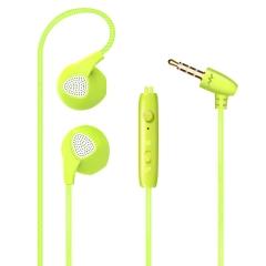 Sport Headset Microphone Heavy Bass Sound Quality Music Earphone  Intelligent In-ear Earplugs Remote green