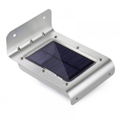 16 LED Outdoor Solar Led Light Wall Mount Security Lamp Super Bright Waterproof Light Motion white 1W/5.5V