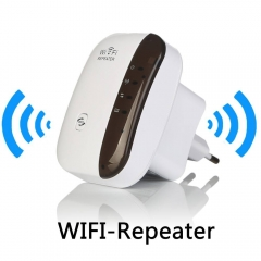 Wireless WiFi Repeater Signal Amplifier 802.11N/B/G Wi-fi Range Extander 300Mbps Signal Boosters white
