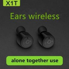 Twins Bluetooth V4.2 Earphones Mini True Wireless Headphones Super Bass Headset Stereo Earbuds black