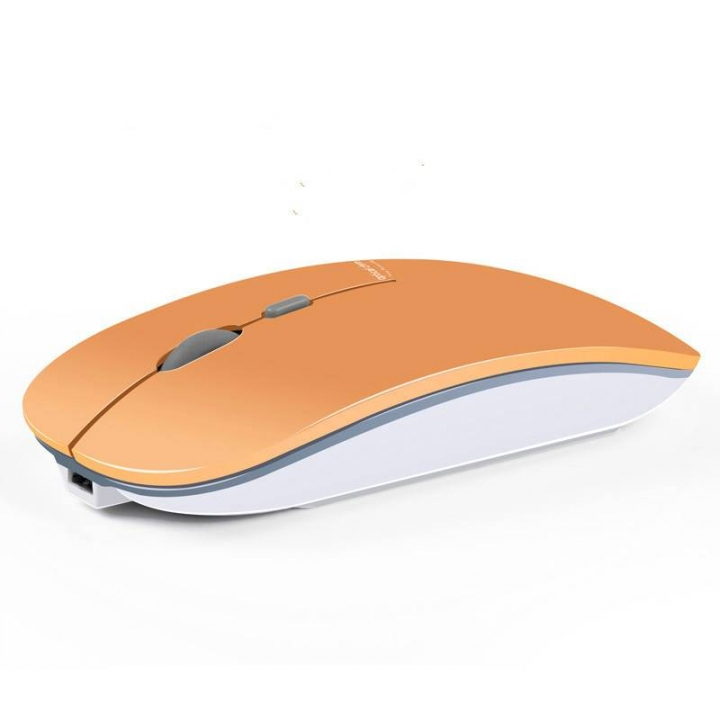 Rechargeable Wireless Mouse Ultra thin Mute Optical Slient Mouse Slim Quick Charging Gold 1