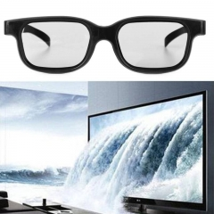 10pcs Circular High Quality Polarized Passive 3D Glasses Black H3 For TV Real D 3D Cinemas