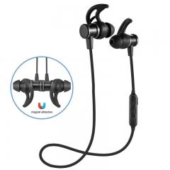 Wireless Bluetooth Sport Earphones Built Microphone Runner Noise Canceling Headset In-Ears Smart black
