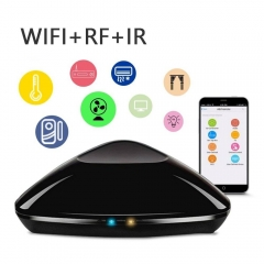 WiFi Smart Home Hub IR RF All In One Automation Learning Remote Control Compatible Apple Android black