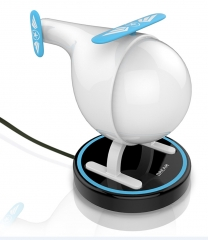 Colorful Night Light Helicopter Intelligent Timed Bedside Night Light Rechargeable white white 16 12