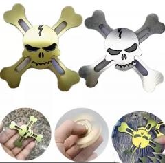 Hand Fidget Spinner,Saingace Skull Pattern Tri-Spinner Fidget Hand Spinner Camouflage blue 4