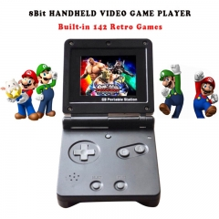 GB Station Light boy SP PVP Hand Held Game  Console Classic Games Black