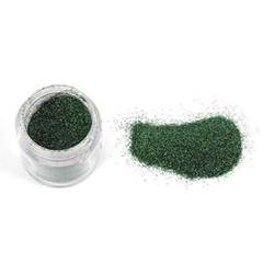 Nail art glitter powder green, in a jar by Nailycious