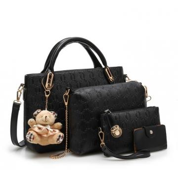 Joyism Handbags 6 colors Classic Fashion Women Luxury Handbag PU Leather Bags black f