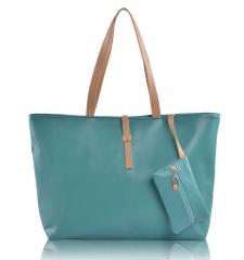 JoyismHandbags High Capacity Handbag Fashion Buckle Shoulder bag green f