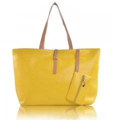 JoyismHandbags High Capacity Handbag Fashion Buckle Shoulder bag yellow f