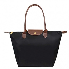 Joyism Handbags Women's Waterproof Foldable Tote Shoulder Bag black f