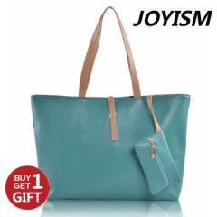 Joyism High Capacity Handbag Fashion Buckle Shoulder bag. One large and one small Green f